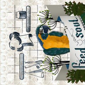 Special Edition Parrot Portrait Tea Towel by Kreativkollektiv friedlosundstreitsuechtig
