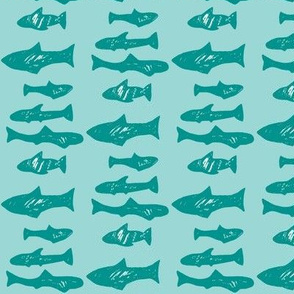 Sharks - Vintage Aqua and Teal