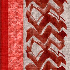 zigzag_red_rust_linen