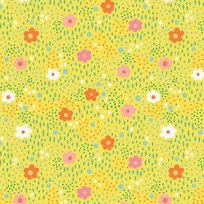 Floral Yellow Field