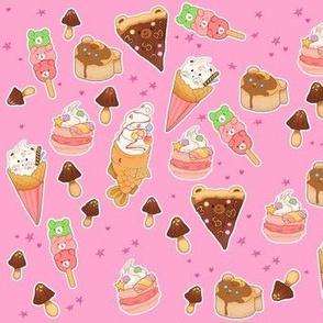 Kawaii Sweet Treats on Pink