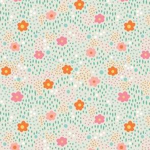 Taupe Floral Field