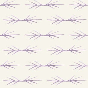 Lavender Cream Toned TWIG SPIKES stripe