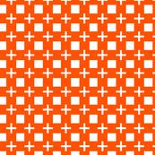 Chunky Windowpane Cross in Orange Crush
