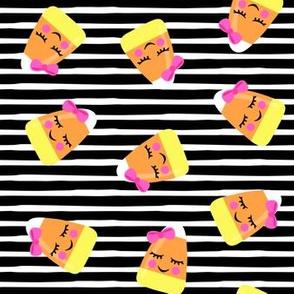 cute candy corn - black stripes - halloween - LAD19