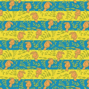 pink toucan stripes repeat pattern design