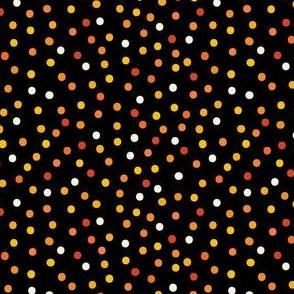 Halloween Confetti on Black