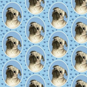 Love for pugs blue