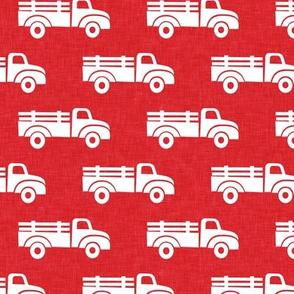 trucks on red - LAD19