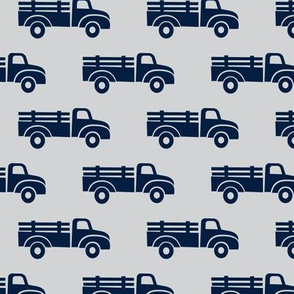 trucks - navy on grey - LAD19