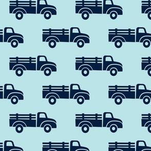 trucks - navy on blue  - LAD19