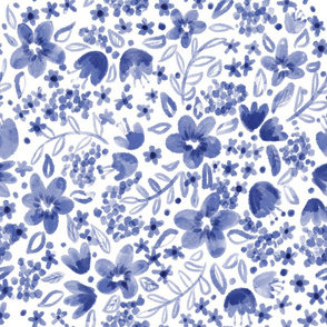Blue Ink flowers