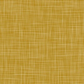 Linen Solid - Ochre (Bees & Lemons)