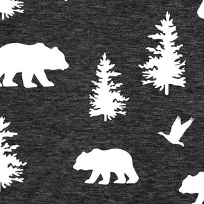 Great Northern Bear (heather black) Home Decor Bedding