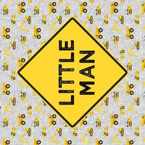 Little Man - One yard panel - Construction themed nursery - LAD19