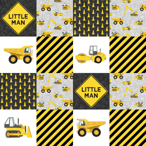 Little Man - Construction Nursery Wholecloth - yellow - LAD19