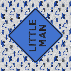Little Man - Construction Panel - Blue - LAD19
