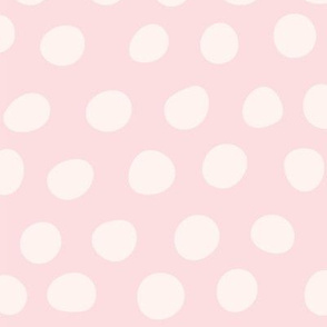 Hand Drawn Polka Dots in Pink