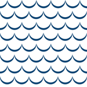 White and Blue Waves