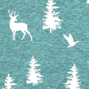 Great Northern Deer (heather island blue) Home Decor Bedding, GingerLous