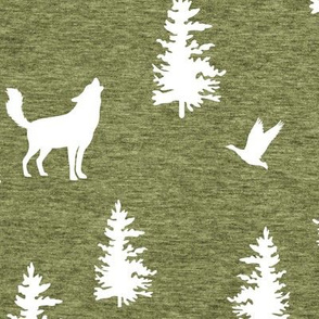 Great Northern Wolf (heather pepperstem) Home Decor Bedding, GingerLous