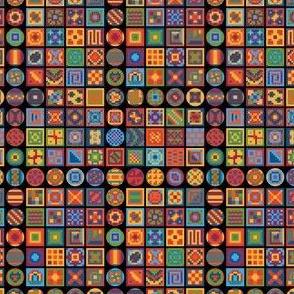 100 Ways Digital Rainbow Squares Circles Shapes