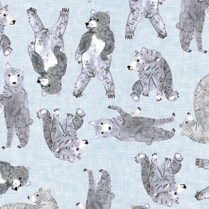 Oodles of Bears (pale denim) MED
