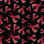 Multiple Myeloma Cancer Awareness Ribbon Burgundy Ribbon Grey-01