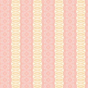 Lace like - salmon pink and orange