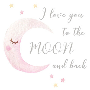 i love you to the moon and back lovey 18x18""