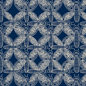 Wings And Bugs-Micro Butterfly navy
