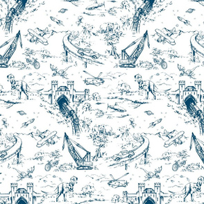 ADVENTURE TOILE_INDIGO_MINI