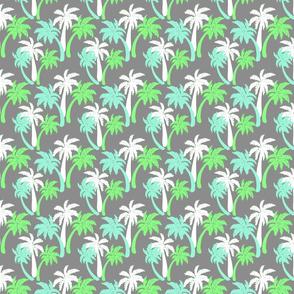 green palms on gray 2x2