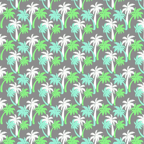 green palms on gray 4x4