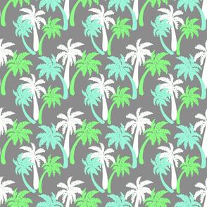 green palms on gray 6x6