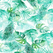 Tropical Leaves - watercolour pattern