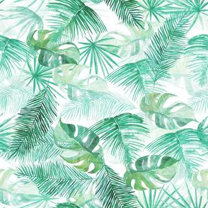 Tropical Leaves - watercolour pattern