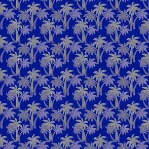 grey palms on navy 4x4