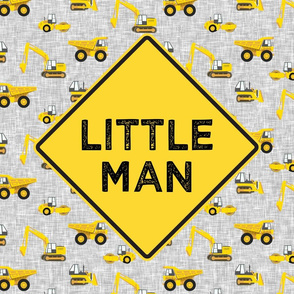 "18"" square panel - Little Man - Construction themed - LAD19"