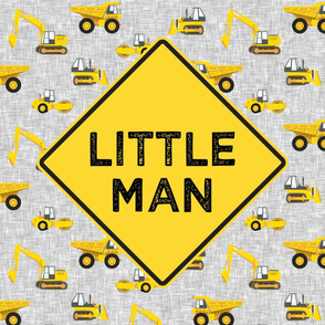 "27x36"" panel - Little Man - Construction themed - LAD19"