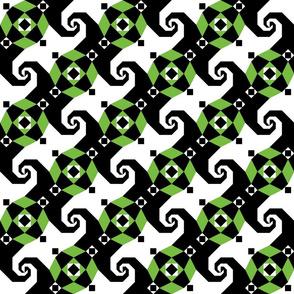 Stormy Seas - wicked green black white