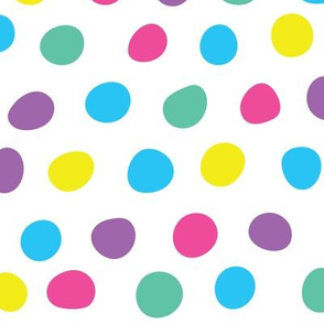 Hand Drawn Polka Dots on White
