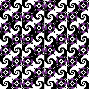 Stormy Seas - floating squares purple black