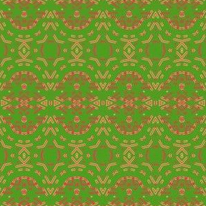 Red and Green Tapestry Look