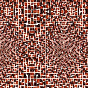 Orange And Black Squares