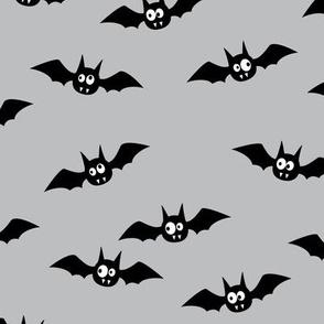 bats - cute halloween - grey - LAD19