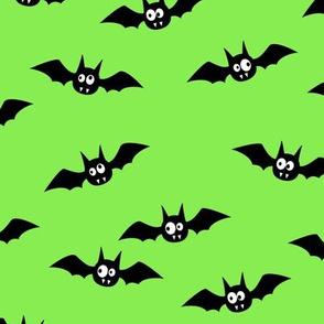 bats - cute halloween - green - LAD19