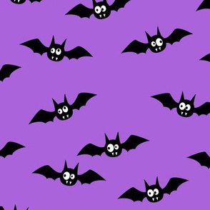 bats - cute halloween - purple - LAD19