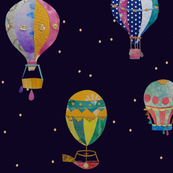 Ballons at night