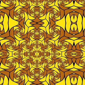 Yellow And Tan Pattern